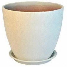 Горшок керамический бутон Винил белый