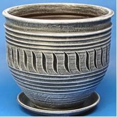Горшок керамический Ника Веревка (серый)