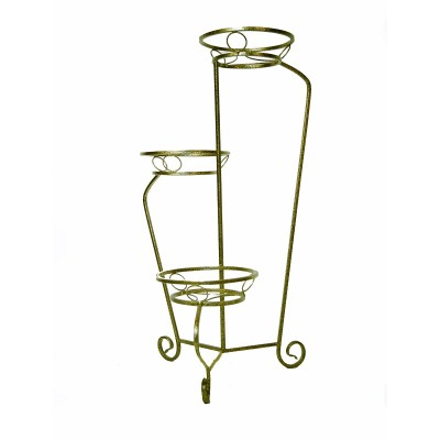 Подставка напольная металлическая для цветов АМФОРА на 3 горшка
