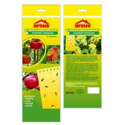 Клеевая (подвесная) ловушка от садовых вредителей ARGUS GARDEN (5 пластин)