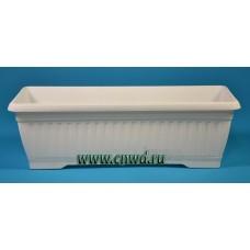Балконный ящик с поддоном Терра белый