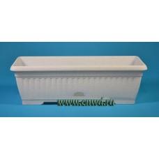 Балконный ящик с поддоном Терра, пластик мраморный