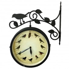 Садовые часы c термометром и пением птиц