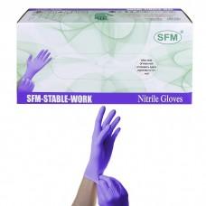 Перчатки нитриловые SFM размер M удлиненные