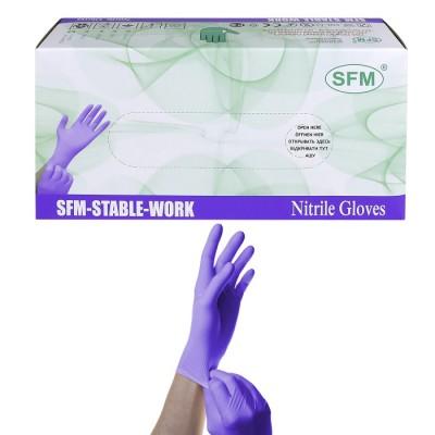 Перчатки нитриловые SFM размер M удлиненные  (10 пар)
