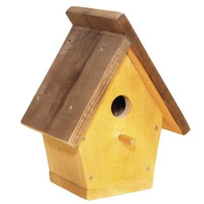 Домик для птиц с покатой крышей