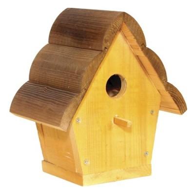 Домик для птиц с бревенчатой крышей