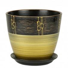 Горшок керамический Бутон Ритм бронза