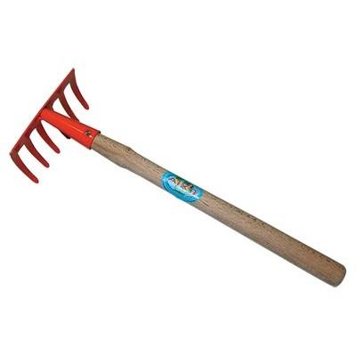 Грабельки прямые 5 зубьев с дерев. ручкой.