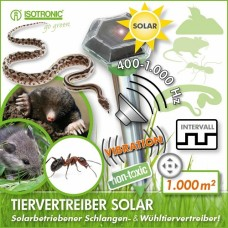 Ультразвуковой отпугиватель кротов, мышей, змей и муравьев ISOTRONIC SOLAR RODENT