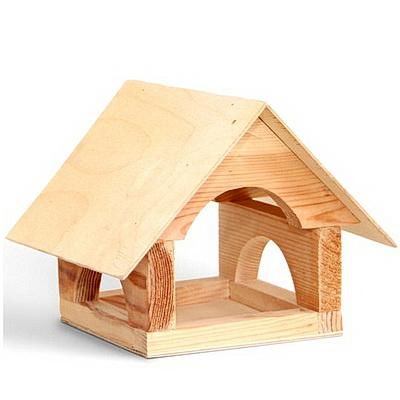Кормушка для птиц Теремок деревянная (некрашеная)