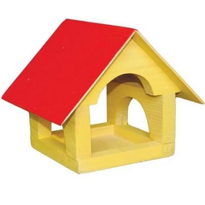 Кормушка для птиц Теремок деревянная Цветная