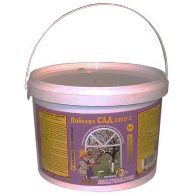 Садовая побелка Сад Люкс (акриловая краска) (1.3 кг, 3 кг)
