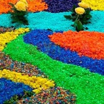 Цветная мраморная крошка (2 кг; 10 кг), разные цвета