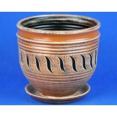 Горшок керамический Ника Веревка (коричневый)