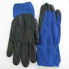Перчатки рифленые с нитриловым покрытием