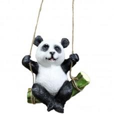Садовая фигурка-навес Панда на бамбуке