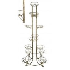 Подставка напольная металлическая для цветов Тополь на 13 горшков