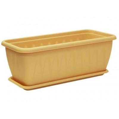 Ящик балконный Алиция (белая глина)