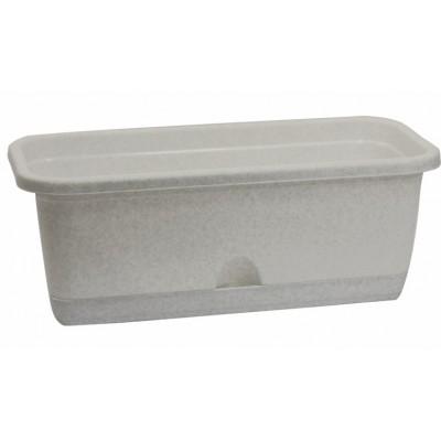 Ящик балконный с поддоном (цвет - мрамор)